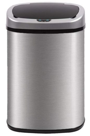 BestOffice Automatic Kitchen Trash Can Brushed Stainless Steel