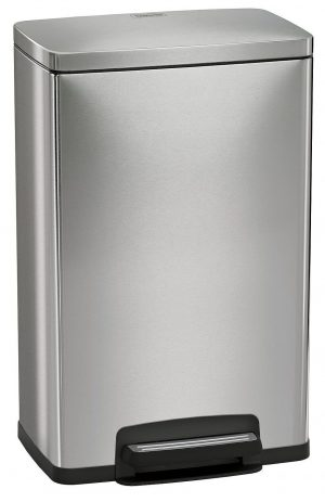 Tramontina 13 Gallon Step Trash Can Stainless Steel Includes 2 Freshener Cartridges