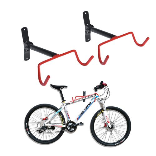 Auwey 2pcs Bike Wall Mount Hanger Bike Indoor Storage Rack