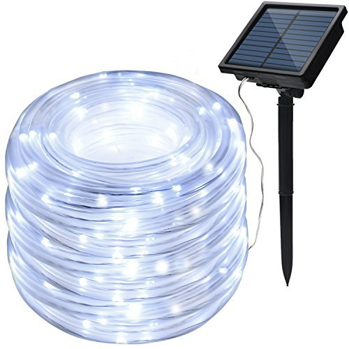 8 Modes IMAGE Solar String Rope Lights 78.7 Foot 20Meters Waterproof 200LED high capacity battery