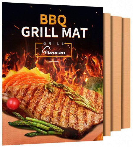 Aoocan Copper Grill Mat - Set of 3 Heavy Duty BBQ Grill Mats