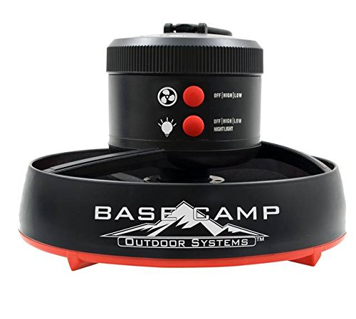 BaseCamp F235100 Tent Fan with LED Light