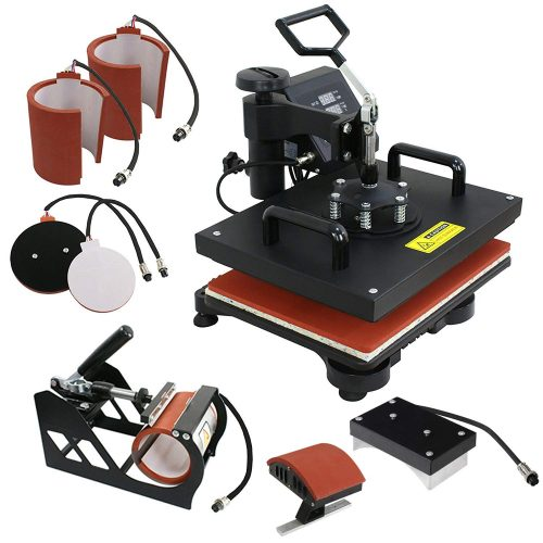 F2C Pro 6 in 1 Combo Heat Press Machine T-Shirt Hat Cap Mug Plate Digital Transfer Sublimation Machine