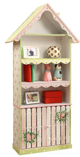 Fantasy Fields - Cracked Rose Thematic Kids Wooden Bookcase