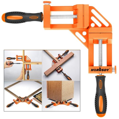 HORUSDY Quick-Jaw Right Angle 90 Degree Corner Clamp for Welding, Wood-working