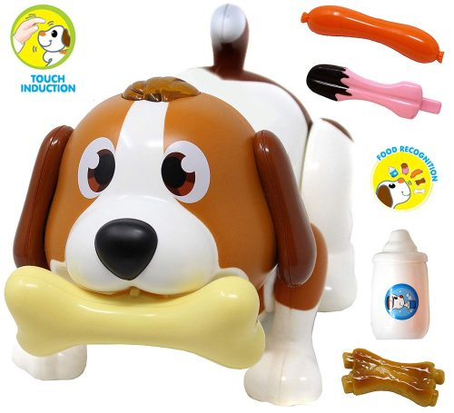 JOYIN Electronic Pet Dog, Puppy Robot Dog Toy, Touch Induction