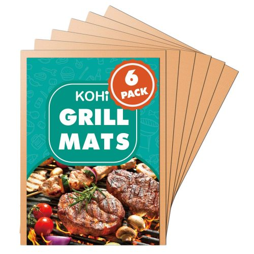 Kohi Copper Grill Mats Non Stick for Gas Grill Charcoal Grill