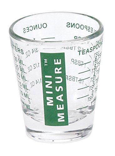 Kolder 13211GRN Mini Measure Heavy Glass, 20-Incremental Measurements Multi-Purpose Liquid