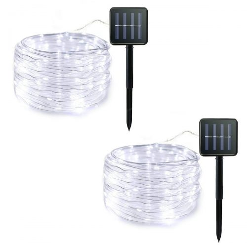 Lalapao Rope Lights 2 Pack Solar Powered Xmas String Lights 120 LED Christmas Fairy Decor Lighting