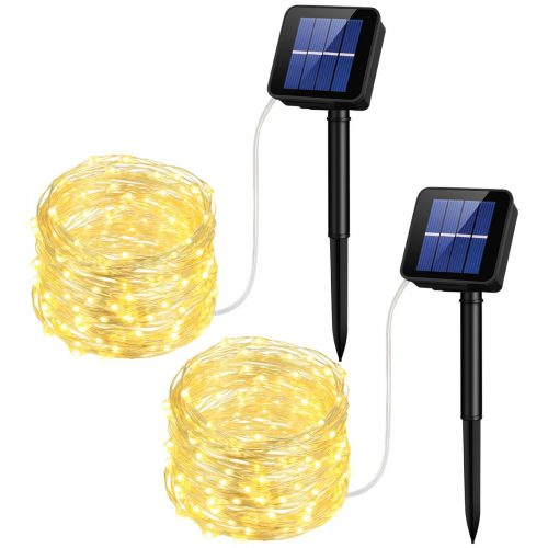 Mpow Solar String Lights, 33ft 100LED Outdoor String Lights, Waterproof Decorative String Lights for Patio