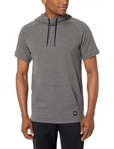 Peak Velocity Men's French Terry Short Sleeve Athletic-fit Hoodie-Short Sleeve Hoodies