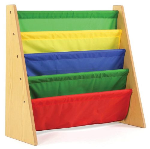 Tot Tutors Kids Book Rack Storage Bookshelf - Kid Book Shelfs