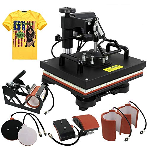 ZENY Heat Press 12''x15'' Pro 6 in 1 Combo Heat Press Machine Digital Multifunction Transfer Sublimation T-shirt