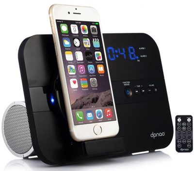 dpnao iPhone Alarm Clock Charging Speaker Wireless System