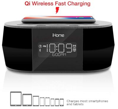 iHome iBTW38 Alarm Clock Bluetooth Stereo