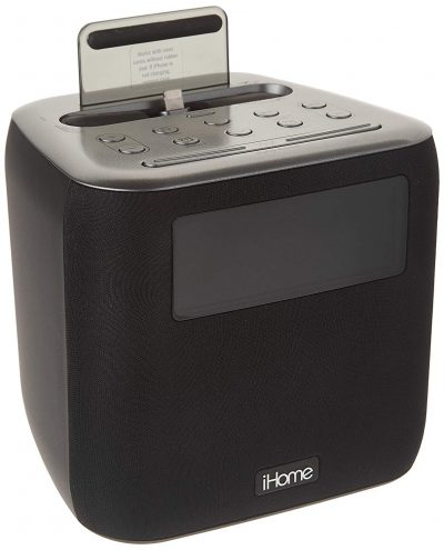 iHome iPL24 Alarm Clock FM Radio Lightning iPhone Charging Dock Station