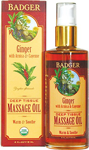 BADGER Ginger Deep Tissue Massage Oil