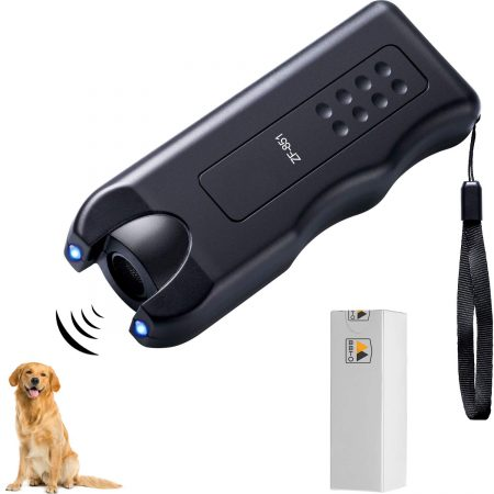 BBTO LED Ultrasonic Dog Repeller Handheld Dog Trainer Device 3 in 1 Anti-Barking Stop Bark Dog Deterrent Training Tools
