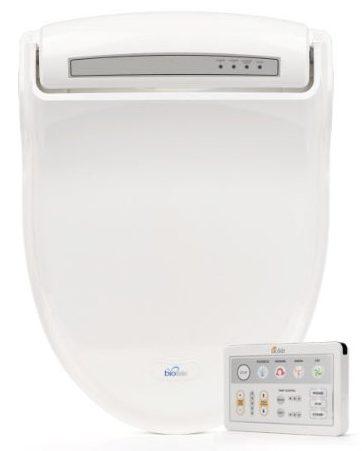 BioBidet Supreme BB-1000 Elongated White Bidet Toilet Seat Adjustable Warm Water, Self Cleaning