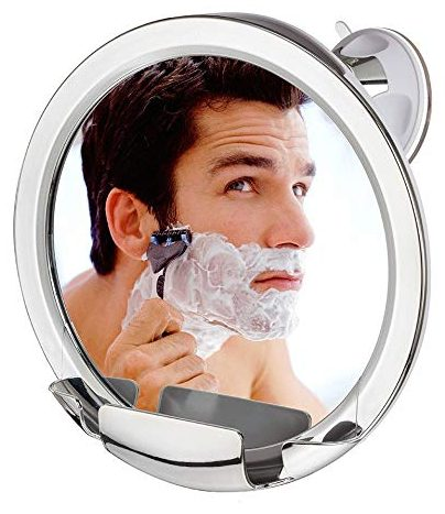 Cheftick Fogless Shower Mirror with Built-in Razor Holder