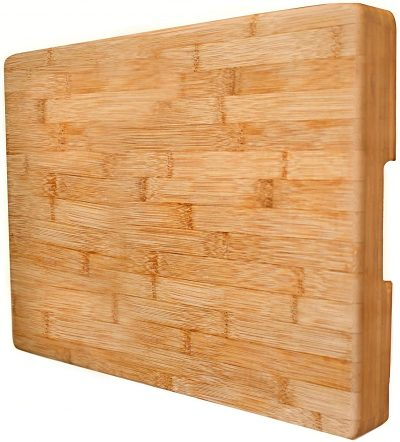 EXTRA LARGE Bamboo Cutting Board Butcher Block By Neet - Thick Heavy & Solid