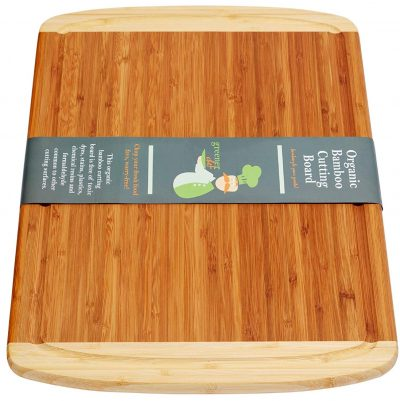 Greener Chef Extra Large Organic Bamboo Cutting Board for Kitchen