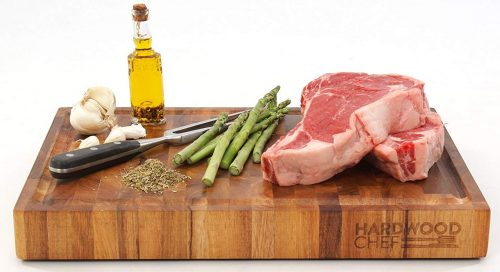 Hardwood Chef Premium Thick Acacia Wood End Grain Cutting Board Butcher Block -Butcher Block Cutting Boards