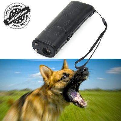 HiGuard Ultrasonic Dog Repeller Pet Training Device 3 in 1 LED Anti Barking Stop Bar Handheld with 9 Volt Battery