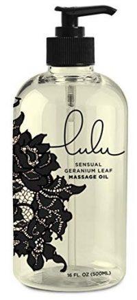 Lulu Massage Oil 16oz. for Luxurious Relaxing Body Massages