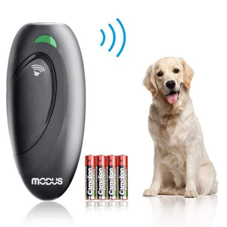 Modus Anti Barking Device, Ultrasonic Dog Bark Deterrent and 2 in 1 Dog Training Aid Control Range of 16.4 Ft w/Anti-Static Wrist Strap LED Indicate 100%