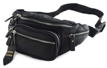 Nabob Leather Fanny Pack Multifunction Hip Bag Travel Pouch