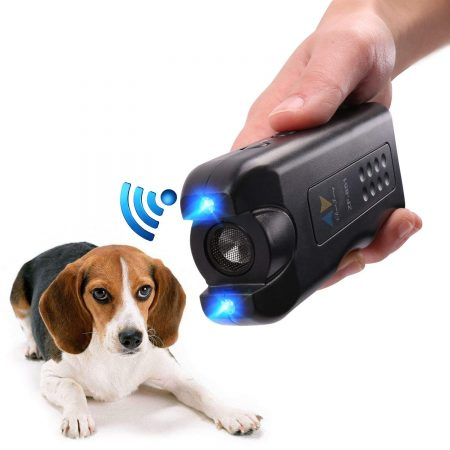 PET CAREE Handheld Dog Repellent, Ultrasonic Infrared Dog Deterrent