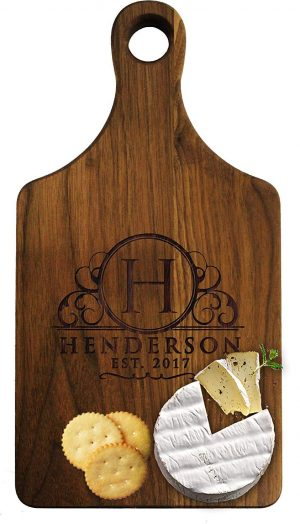 Personalized Cheese Maple Walnut Cutting or Serving Board