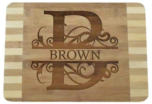 "Personalized Custom Engraved Bamboo Wood Cutting Board - 13.5""x9.6""x0.68"" - Beautiful"