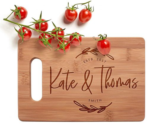 Personalized Cutting Board, 3 Sizes & 12 Designs, Bamboo Cutting Board