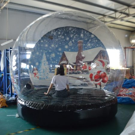Sayok Christmas Decoration Inflatable Snow Globe Transparent Bubble Tent
