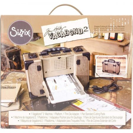 Sizzix Tim Holtz Vagabond 2 Electric Embossing Extended Platform and Java Standard Pads Die Cutting Machine
