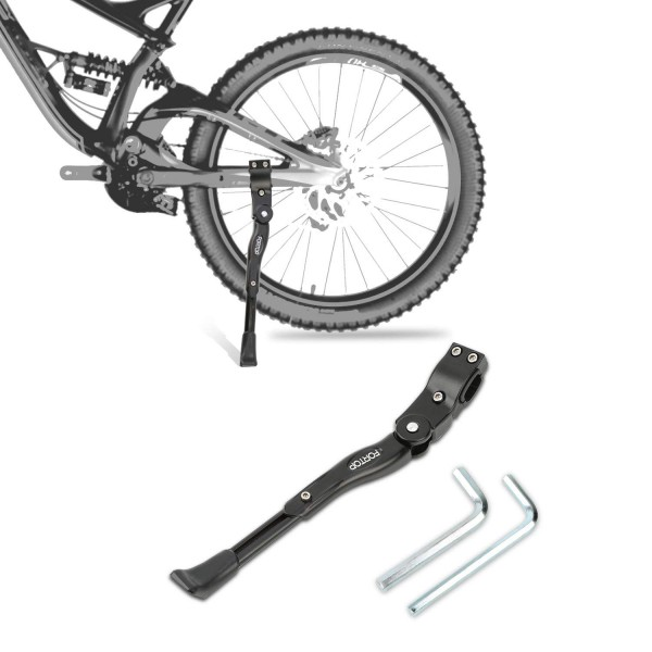 "10. FORTOP Bike Support Bicycle Kickstand Adjustable Aluminum Alloy for 22"" 24"" 26"" 28"" Mountain Bike"