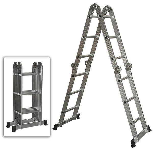 11. Best Choice Products Multi Purpose Aluminum Ladder