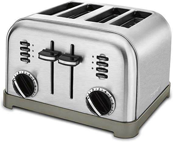 #12 Cuisinart C.P.T 180 Classic 4 Slice Stainless-4-Slice Toasters