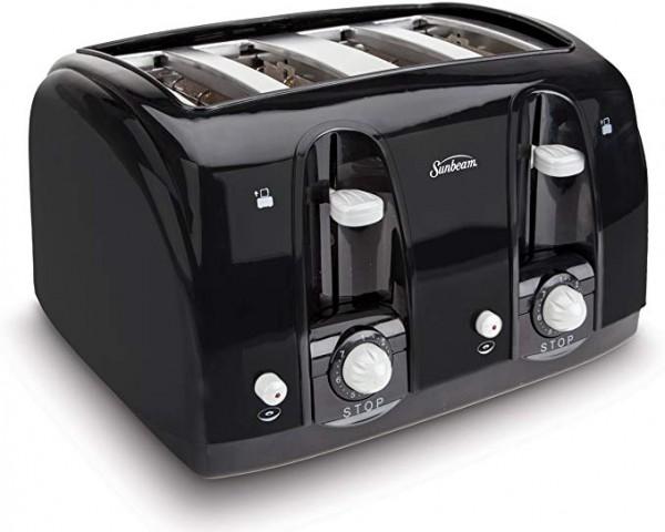 #2 Sunbeam 4 Slice Toaster Black 003911-100-000-4-Slice Toasters