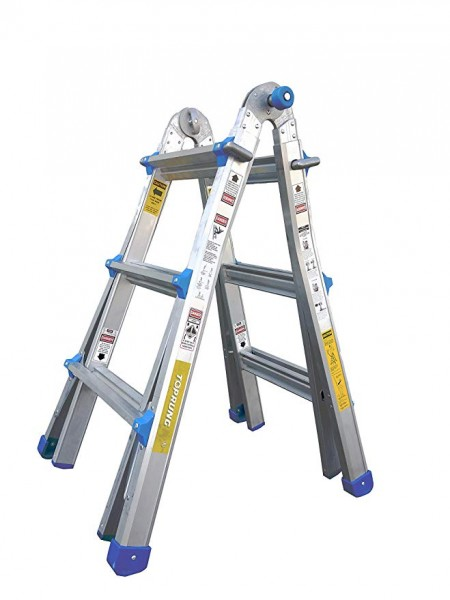 7.TOPRUNG Model-17 ft. Aluminum Extension Multi-Purpose Ladder