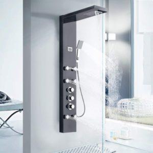 Water Orchid Shower Backwall ecklösung Aluminium Shower Panel Shower Cubicle Flower Zen