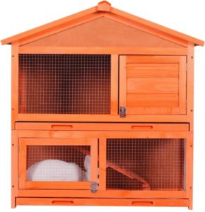 wooden bunny cage