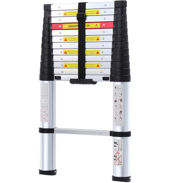 8.WolfWise Aluminum Telescopic Extension Multi-Purpose Ladder