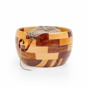 Wooden Knitting Bowl