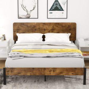 wood bed platform