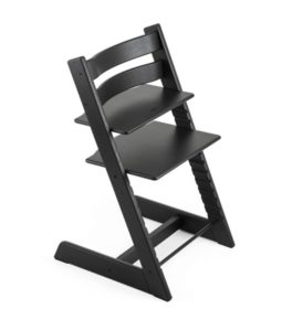 Black Wooden High Chair