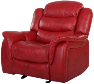Contemporary Red Glider Recliner Chair