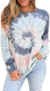 Oversized Tie Dye Sweatshirts for Women